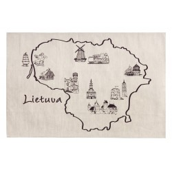 "Kitchen Towel ""Lietuva Map"""