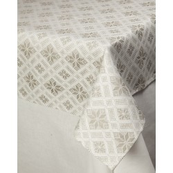 Tablecloth with diamonds