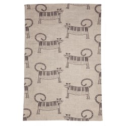 "Kitchen Towel ""Cat and Piano"""
