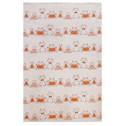 "Kitchen Towel ""Yellow frogs"""
