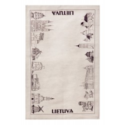 "Kitchen Towel ""Lietuva Cities"""
