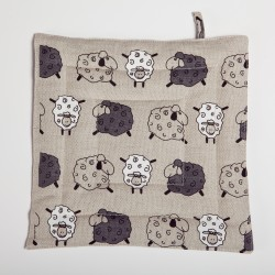 "Pot holder ""Little sheeps"""