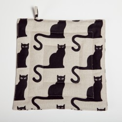 "Pot holder ""Black cats"""